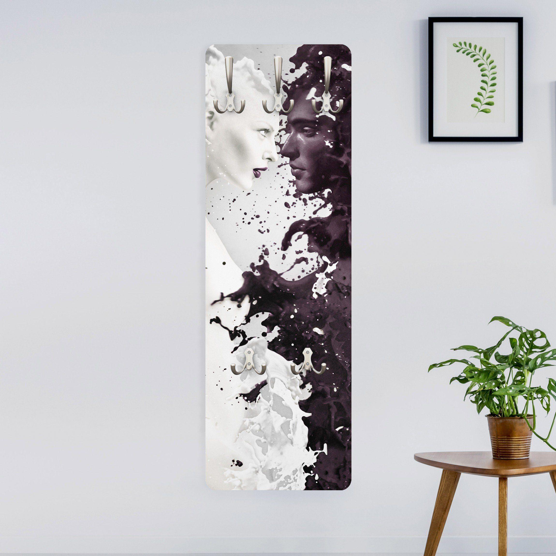 Bilderwelten Wandgarderobe 139x46x2cm »Milk«