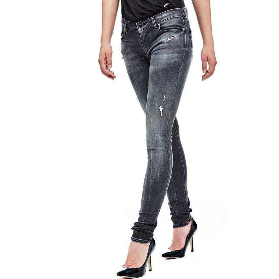guess jeans skinny niedriger bund abrieb kaufen otto. Black Bedroom Furniture Sets. Home Design Ideas