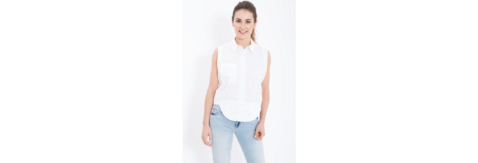 Mexx Blusentop, mit Hemdkragen ohne Arm