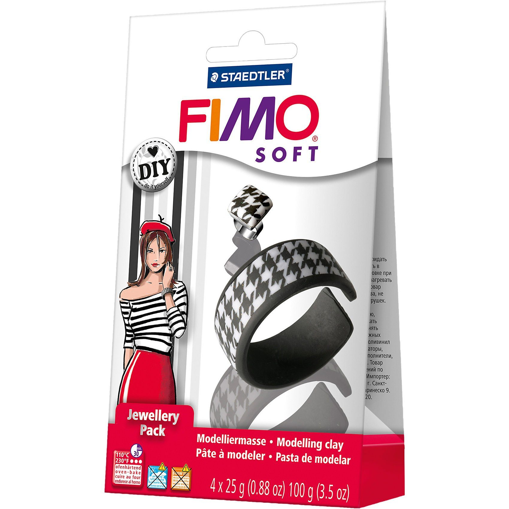 FIMO soft DIY Schmuckset Black & White