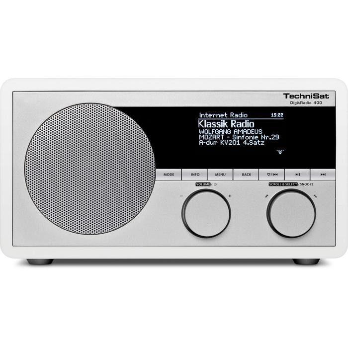 TechniSat Digitalradio für DAB+/DAB/UKW/Internetradio (App,WLAN,UPnP) »DigitRadio 400«