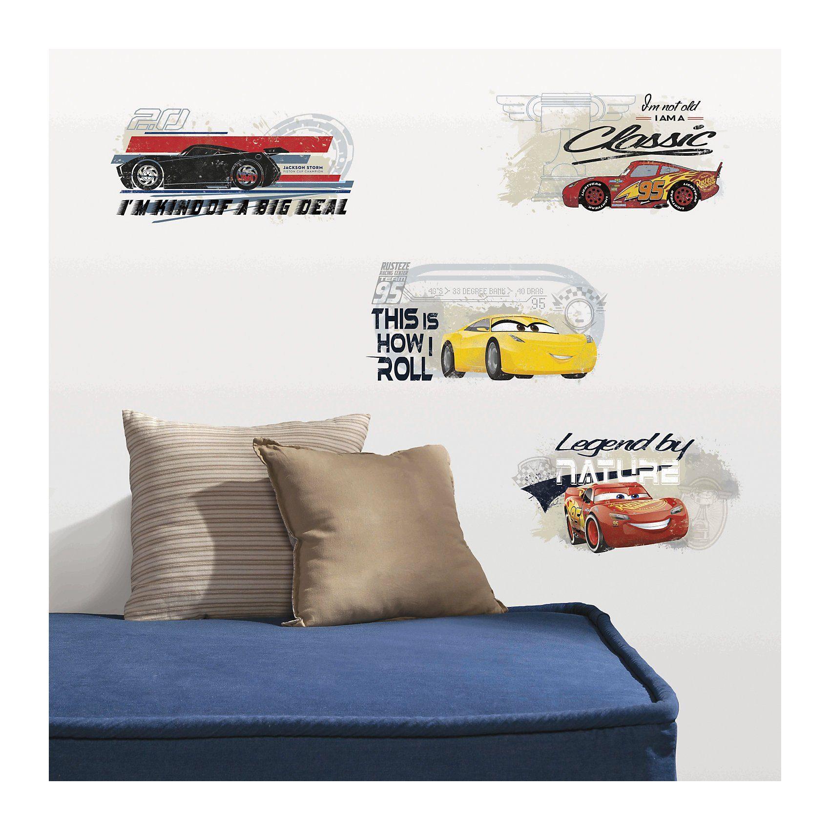 RoomMates Wandsticker Cars 3, 4-tlg., bunt