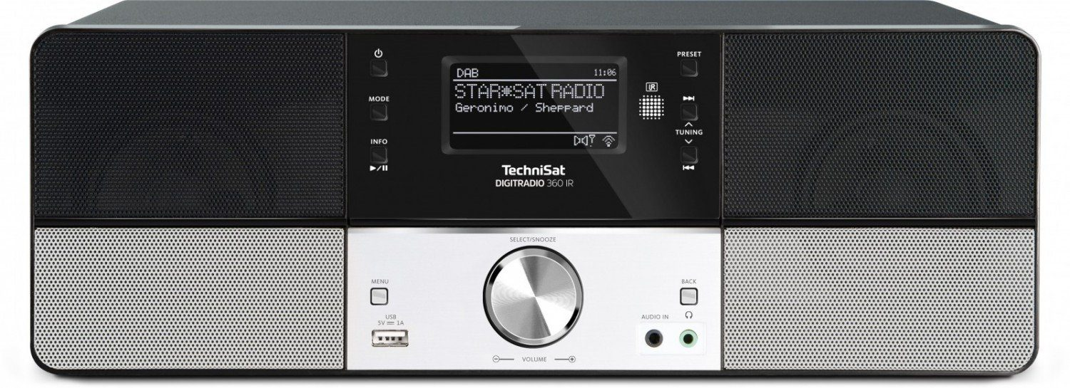 TechniSat Digitalradio für DAB+/DAB/UKW/Internetradio (Stereo,WLAN,UPnP) »DIGITRADIO 360 IR«