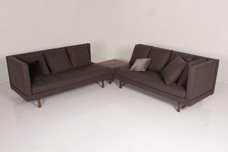 Kasper wohndesign ecksofa stoff braun mit beistelltisch for Wohndesign versand