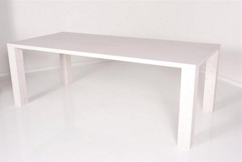 Kasper wohndesign esstisch tisch pinie wei massiv 220 cm for Tisch otto versand