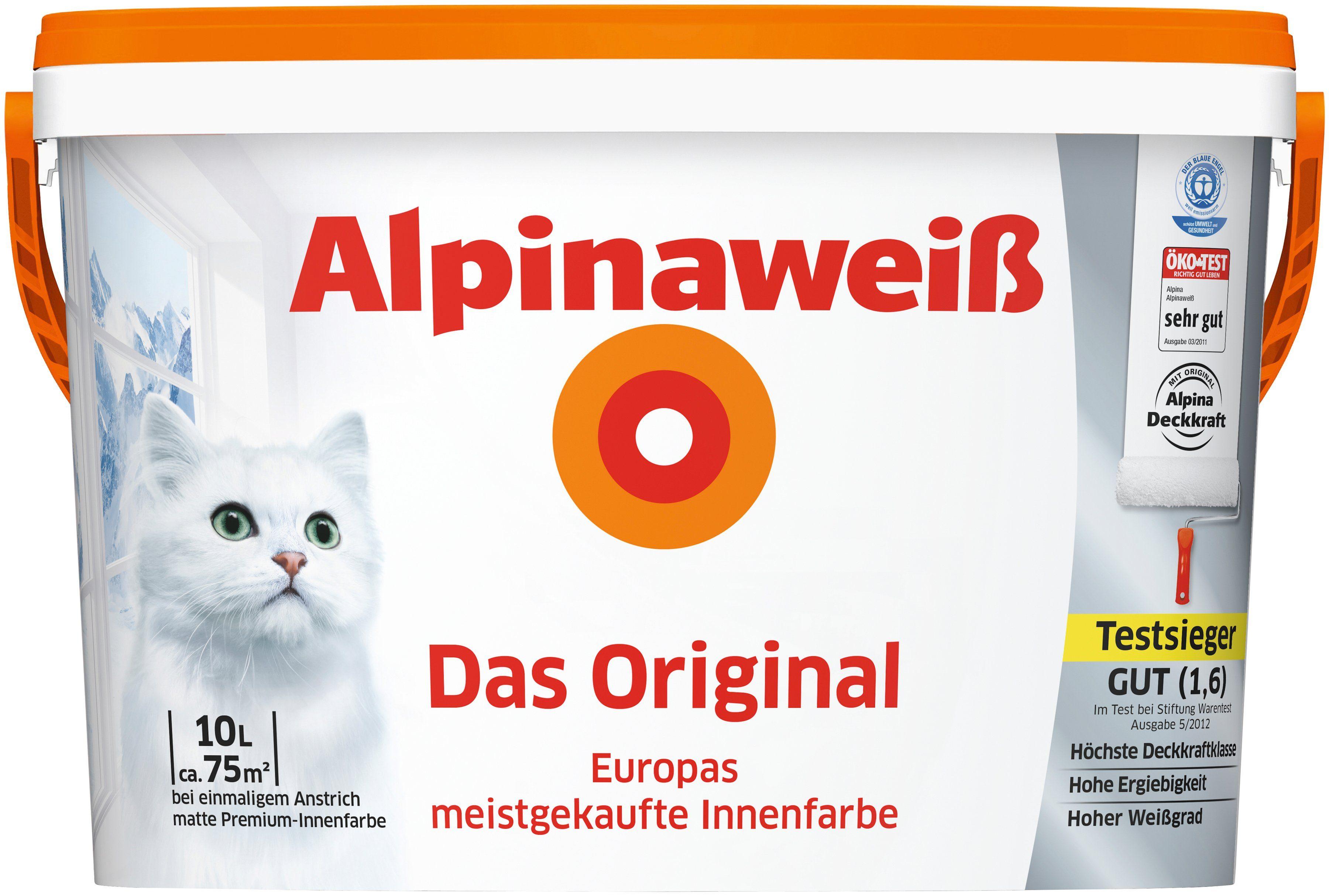 ALPINA Innenfarbe »Das Original«, Alpinaweiß 10L