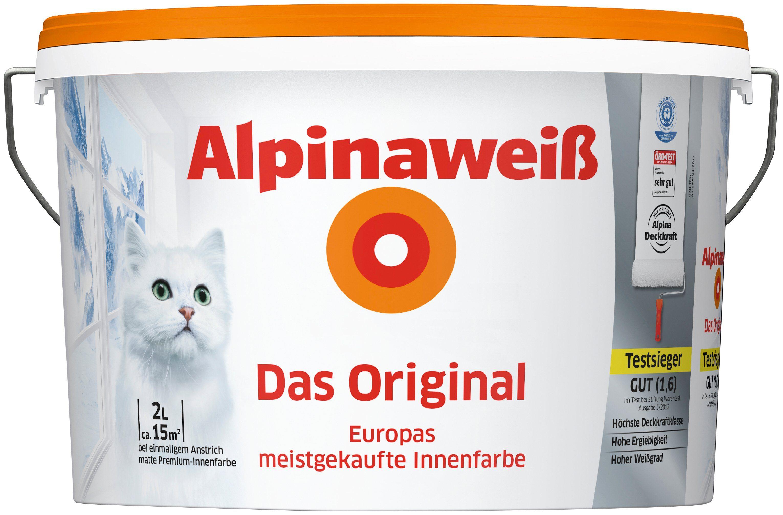 ALPINA Innenfarbe »Das Original«, Alpinaweiß 2L