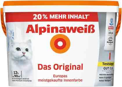 ALPINA Wand- und Deckenfarbe »Alpinaweiß - Das Original«, 12 l