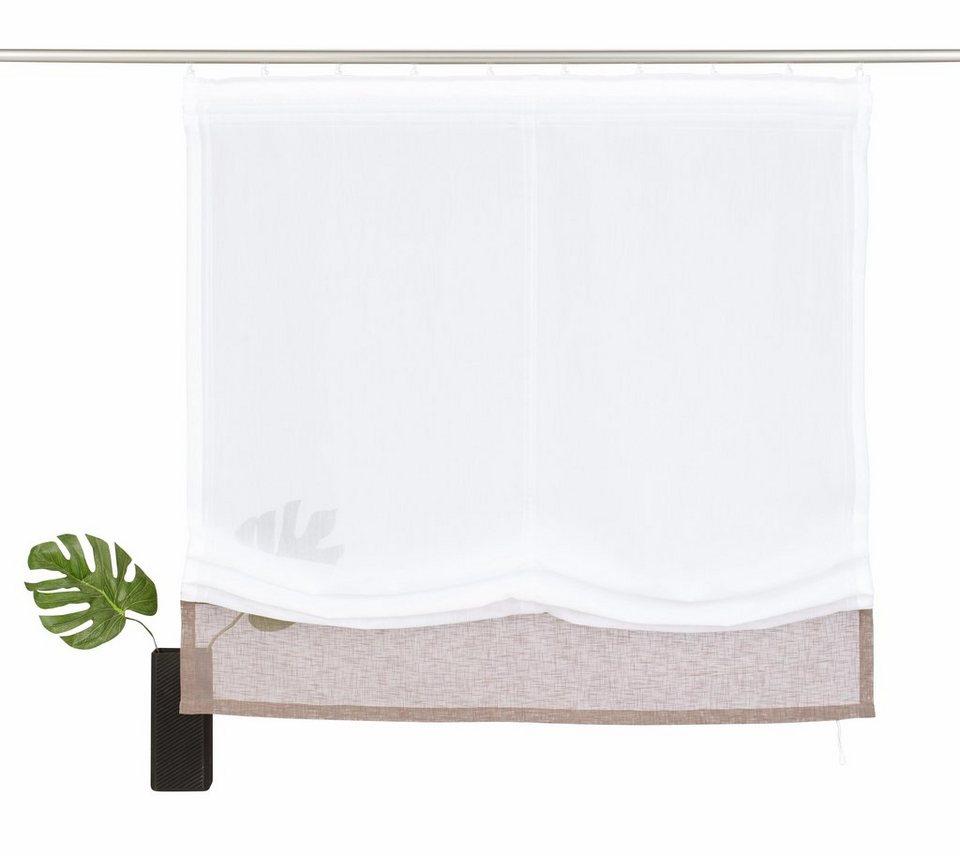 raffrollo riga home affaire mit klettband otto. Black Bedroom Furniture Sets. Home Design Ideas