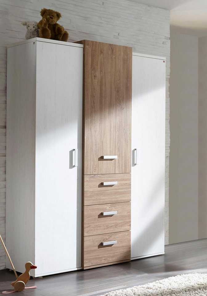 kleiderschrank passend zur babym belserie bergen in eiche nb pinie wei nb online kaufen otto. Black Bedroom Furniture Sets. Home Design Ideas