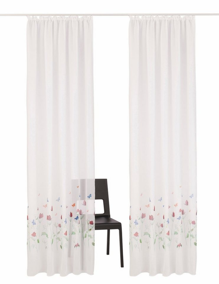 gardine butterflies my home kr uselband 2 st ck online kaufen otto. Black Bedroom Furniture Sets. Home Design Ideas