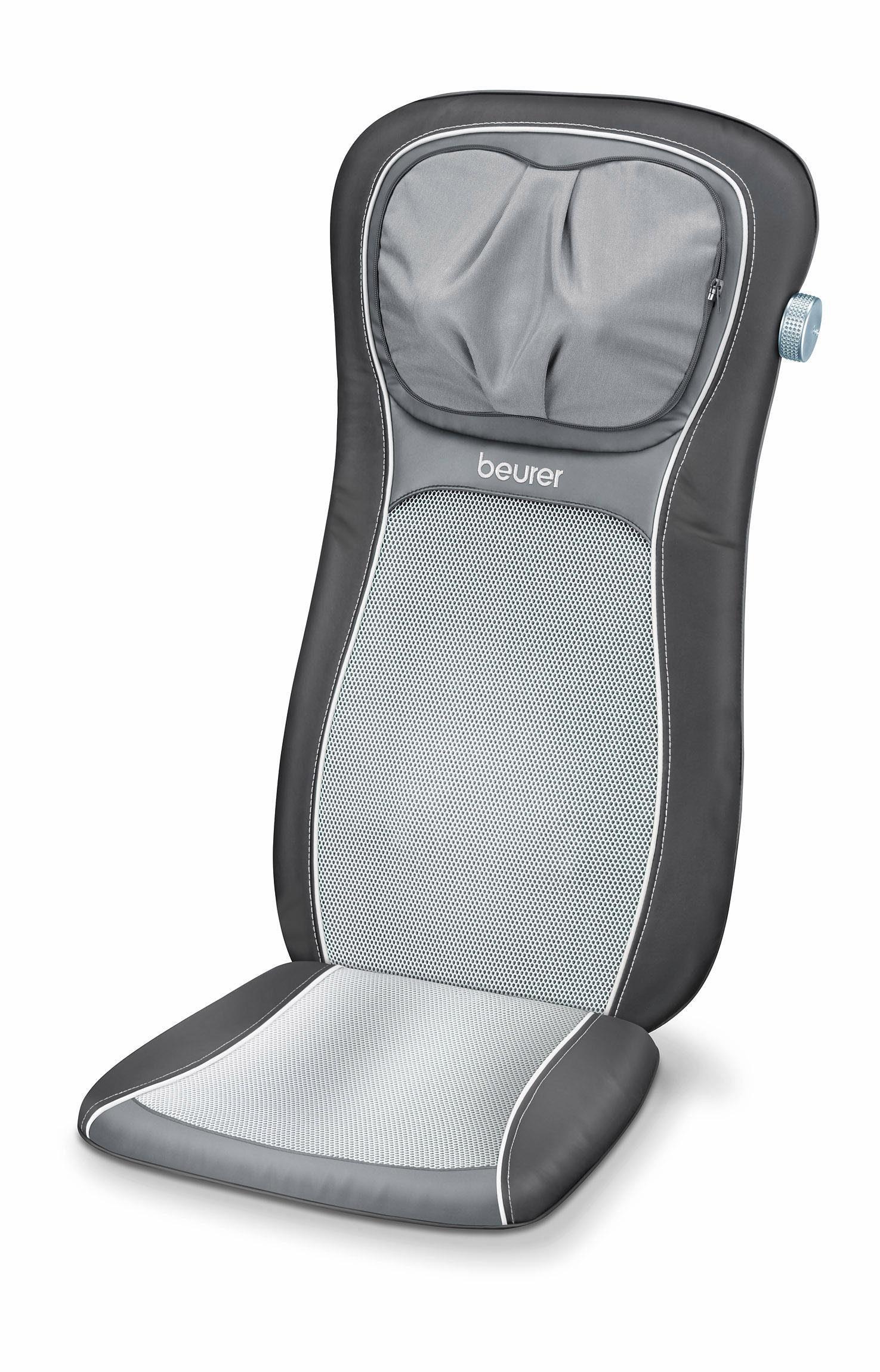 Beurer Shiatsu-Sitzauflage MG260, mit höhenverstellbarer Shiatsu-Nackenmassage