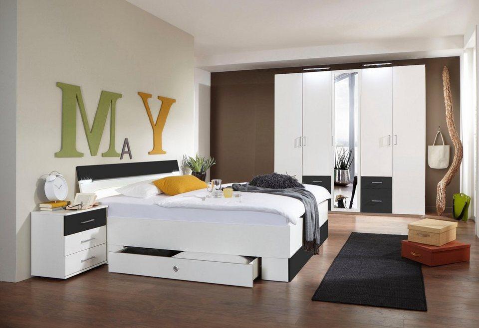 Wimex Schlafzimmer-Set »Freiburg«, Set aus Schrank, Bett und 2 Nachttischen  online kaufen | OTTO