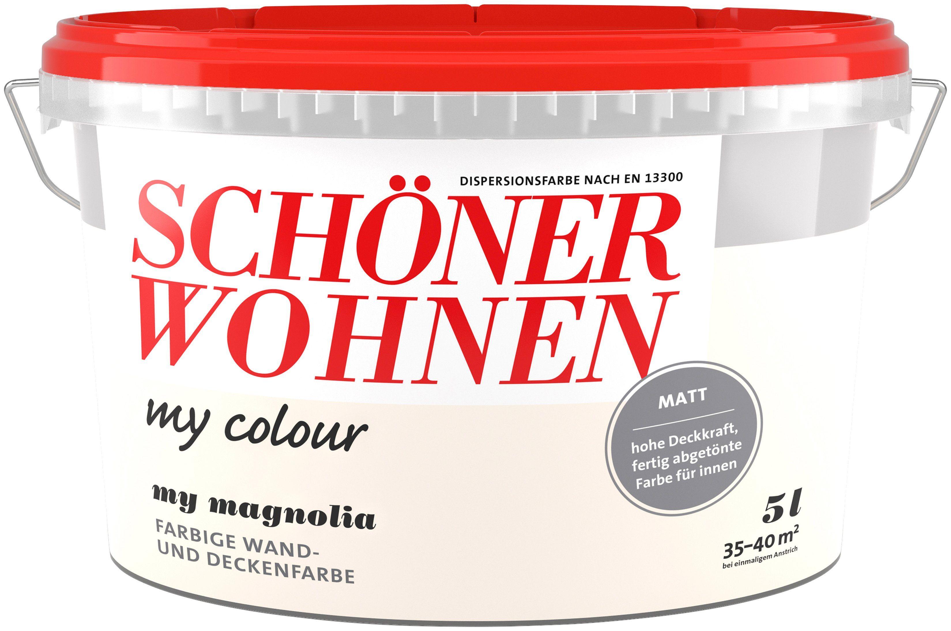 SCHÖNER WOHNEN FARBE Wand- und Deckenfarbe »my colour - my magnolia«, matt, 5 l