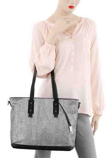Tom Tailor Shopper »KARI«, im trendigen Metallic-Look