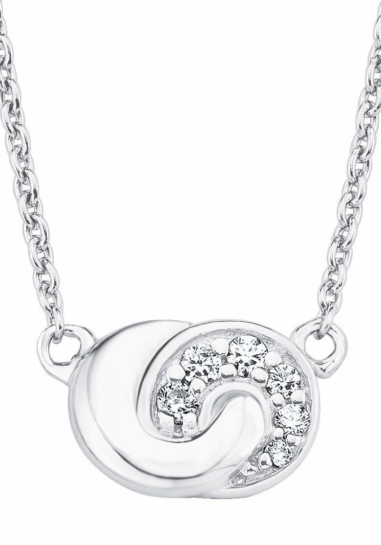 s.Oliver RED LABEL Silberkette »Knoten, 2017186« mit Zirkonia