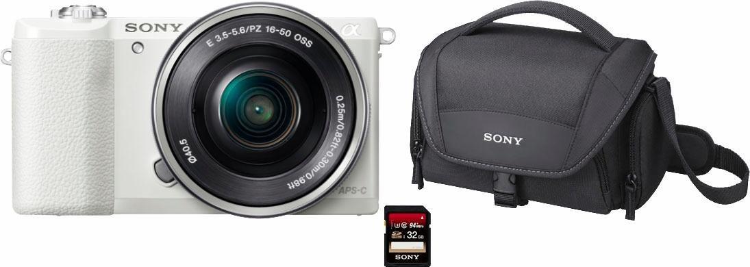 Systemkameras - Sony »ILCE5100L« Systemkamera (24,3 MP, NFC, WLAN (Wi Fi), Makroaufnahme, HDR Aufnahme, Gesichtserkennung)  - Onlineshop OTTO