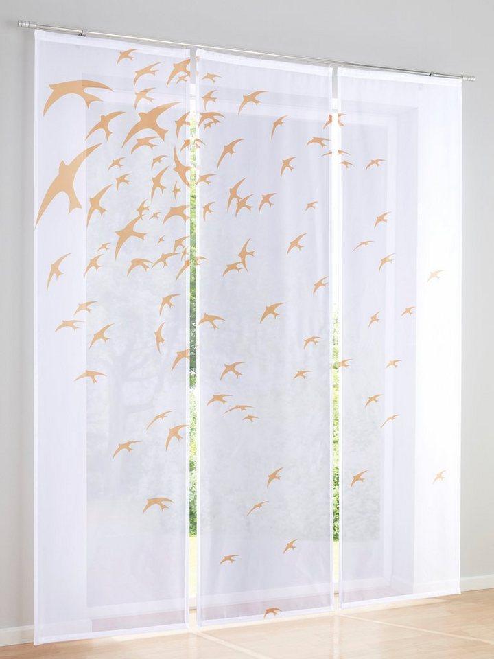 heine home Schiebevorhang, 3er-Set