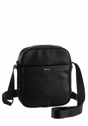 Herren Replay Umhängetasche, praktische Mini Bag schwarz   08054959559364