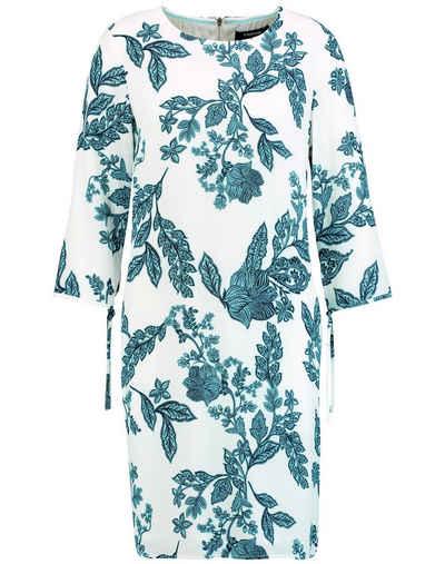 Taifun Minikleid »Kleid mit Floral-Print« figurumspielend