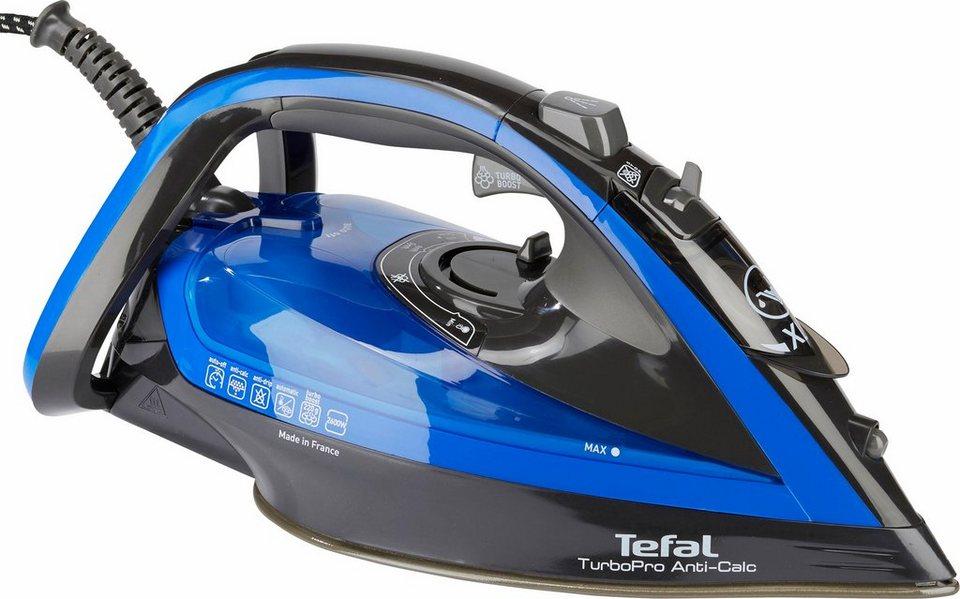 Tefal Dampfbügeleisen FV5648 Turbo Pro Anti-Calc, 2600 W, selbstreinigende  AUTOCLEAN-Durilium-Bügelsohle online kaufen | OTTO