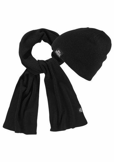 Lonsdale Strickmütze »LEAFIELD« (Packung, 2-St., mit Schal) Set aus Schal undMütze