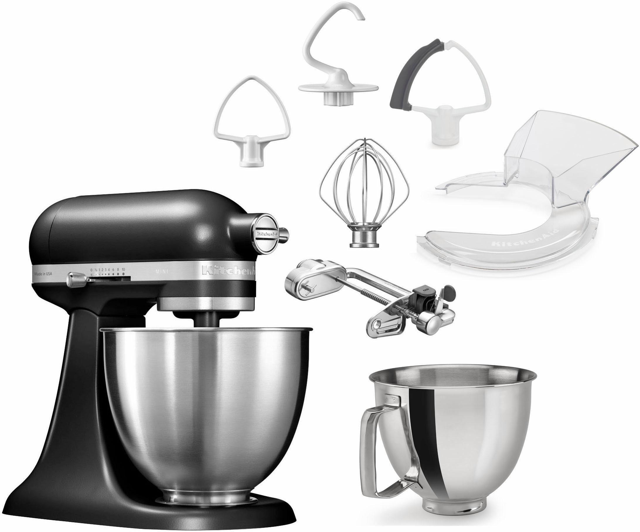 KitchenAid Küchenmaschine Mini 5KSM3311XEBM, 250 W, 3,3 l Schüssel, mit Sonderzubehör im Wert von 279,-€ UVP