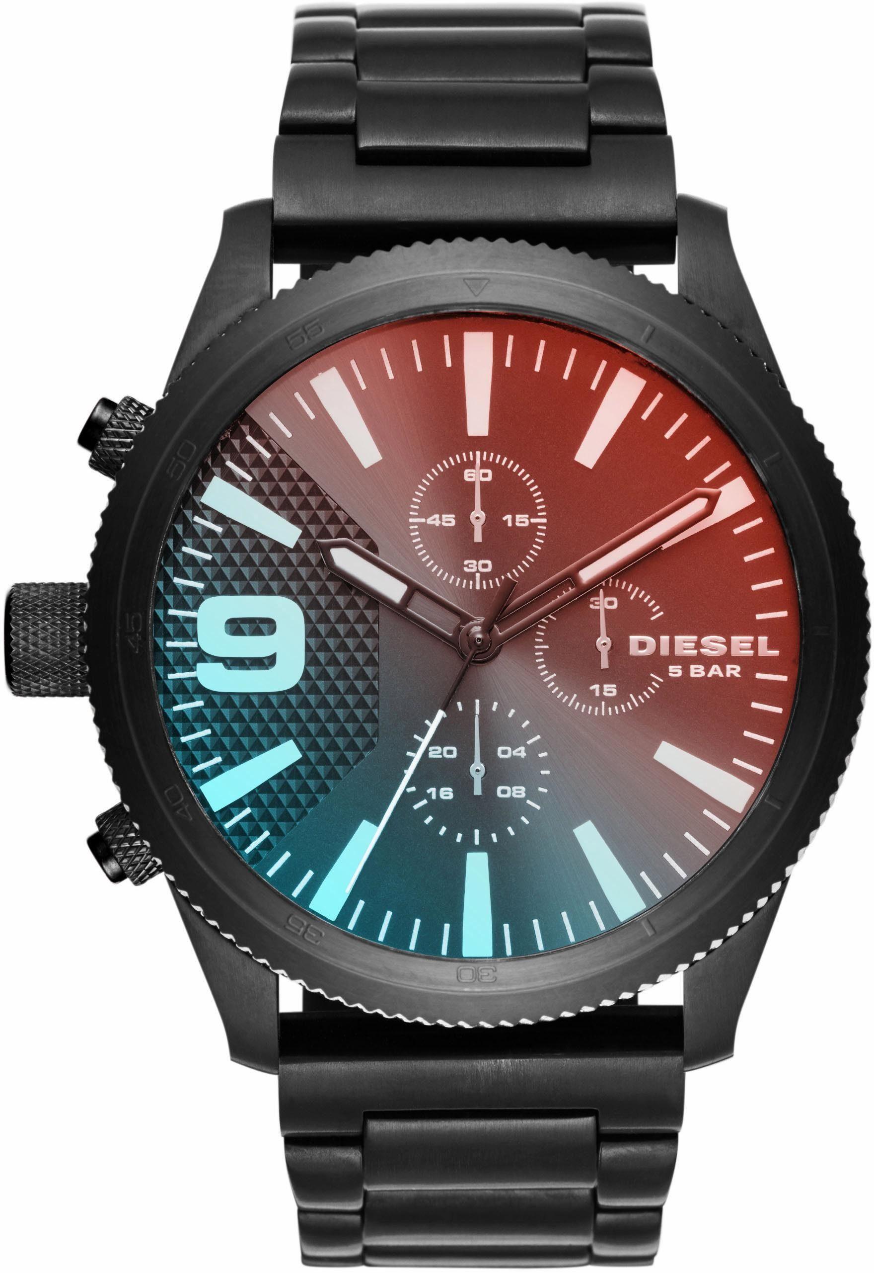 Diesel Chronograph »RASP, DZ4447«, mit irsierendem Mineralglas