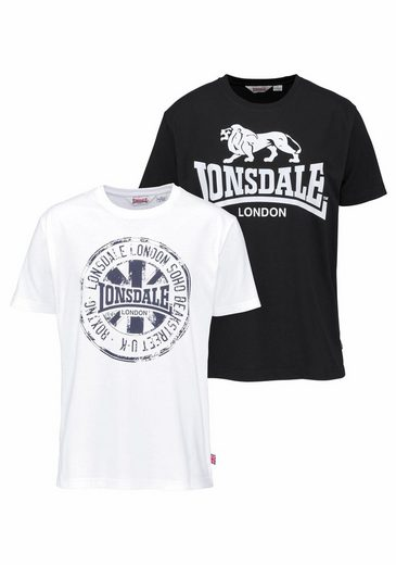 Lonsdale T-Shirt »DILDAWN« (Packung, 2er-Pack)