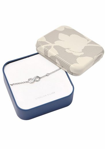 Fossil Armband »Infinity/Unendlichkeit, INFINITIVE LOVE, JFS00393040«, mit Zirkonia
