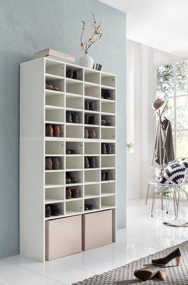 schuhregal mit 40 f chern ma e 91 5x33x165 cm otto. Black Bedroom Furniture Sets. Home Design Ideas