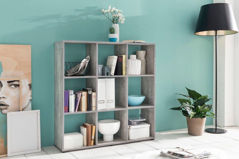 Raumteiler-Regal »mit 9 Fächern«, Maße 104,5x29x108 cm | Wohnzimmer > Regale > Raumteiler | Wilmes