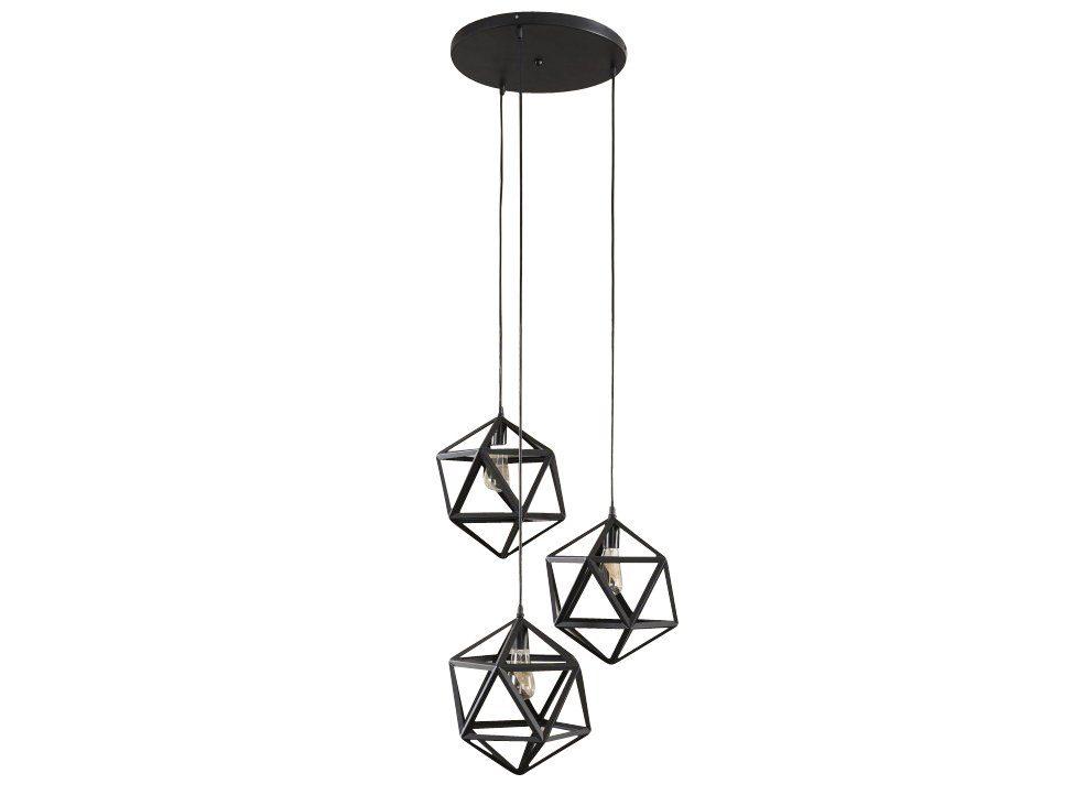 SalesFever Hängeleuchte 3 Lampenschirme Dreiecke »Dominik«