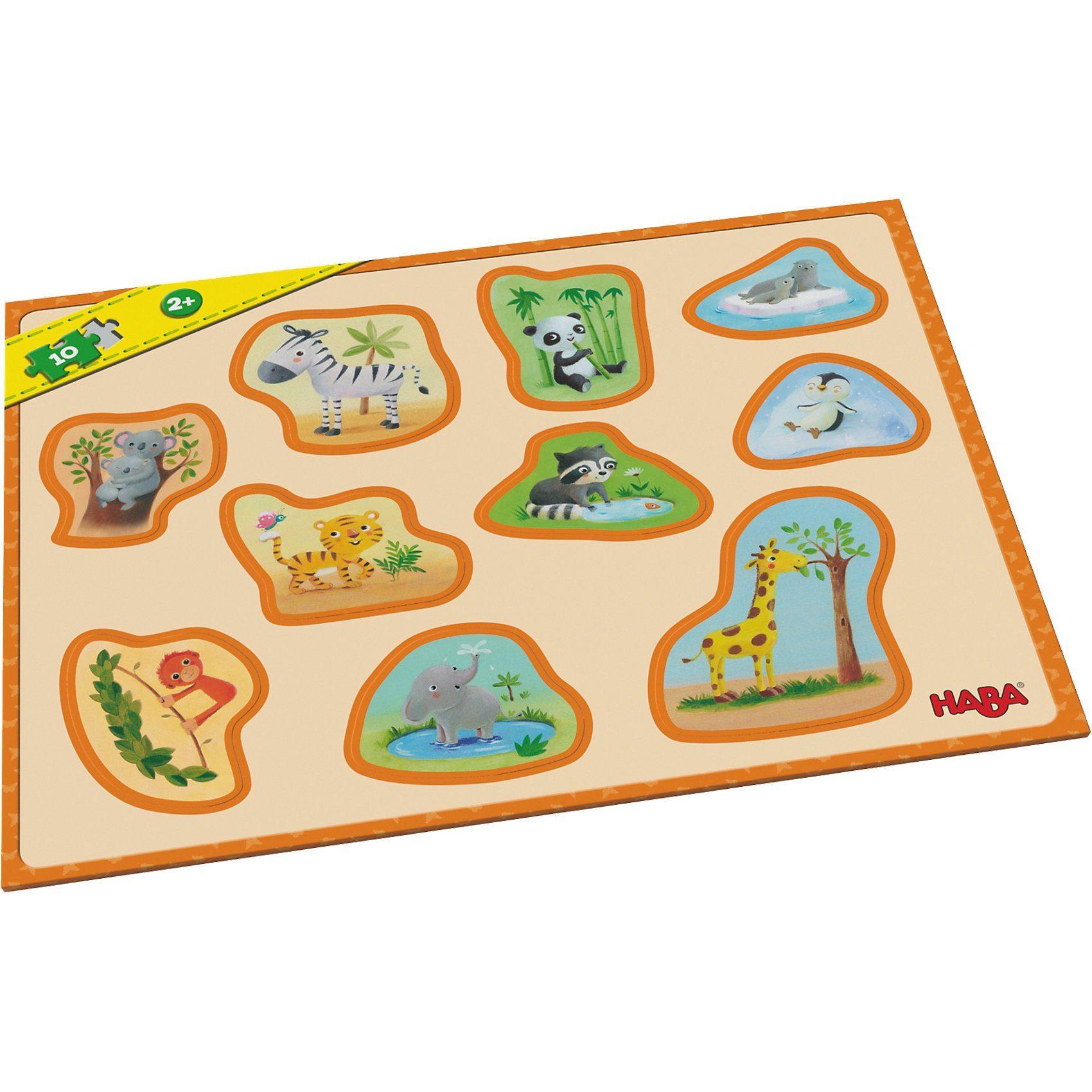 Haba Meine ersten Rahmenpuzzles - 10 Teile - Tierkinder