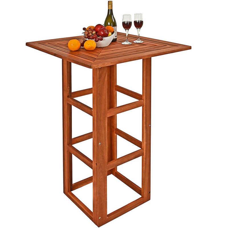 Deuba Stehtisch »Akazie« (1-St), Bistrotisch 75x75x110cm • robuste, massive Konstruktion • elegante Holzmaserung • optimale Tischhöhe für bequemes Stehen