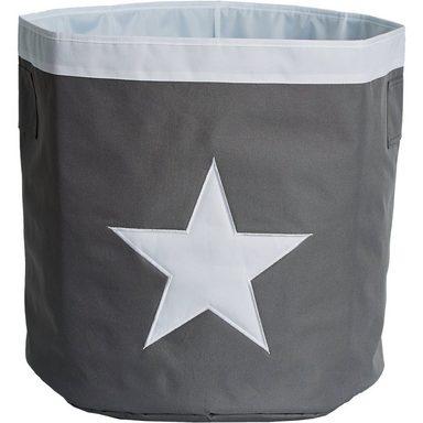 STORE IT! Aufbewahrungskorb, Maxi, grau mit weißem Stern