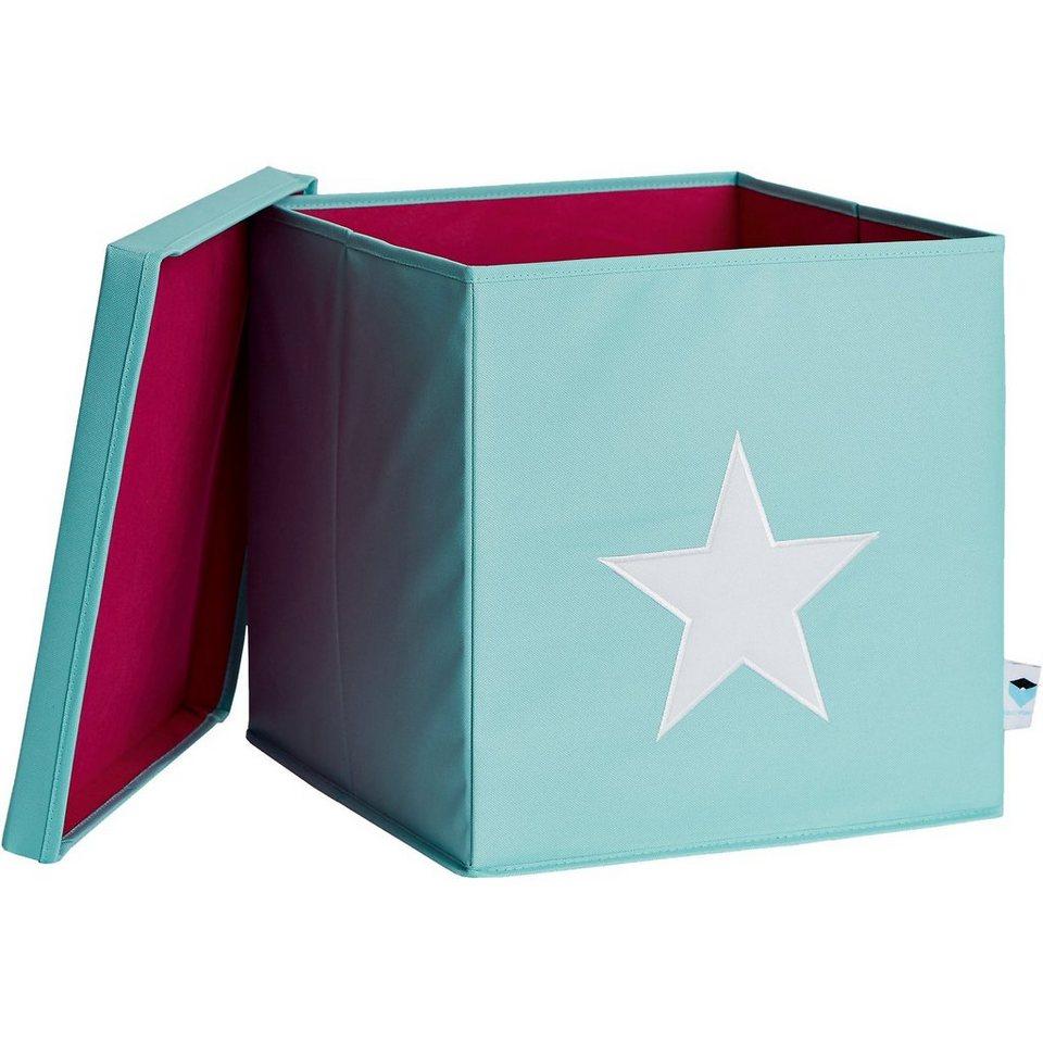 store it ordnungsbox mit deckel mdf mint mit wei em stern online kaufen otto. Black Bedroom Furniture Sets. Home Design Ideas