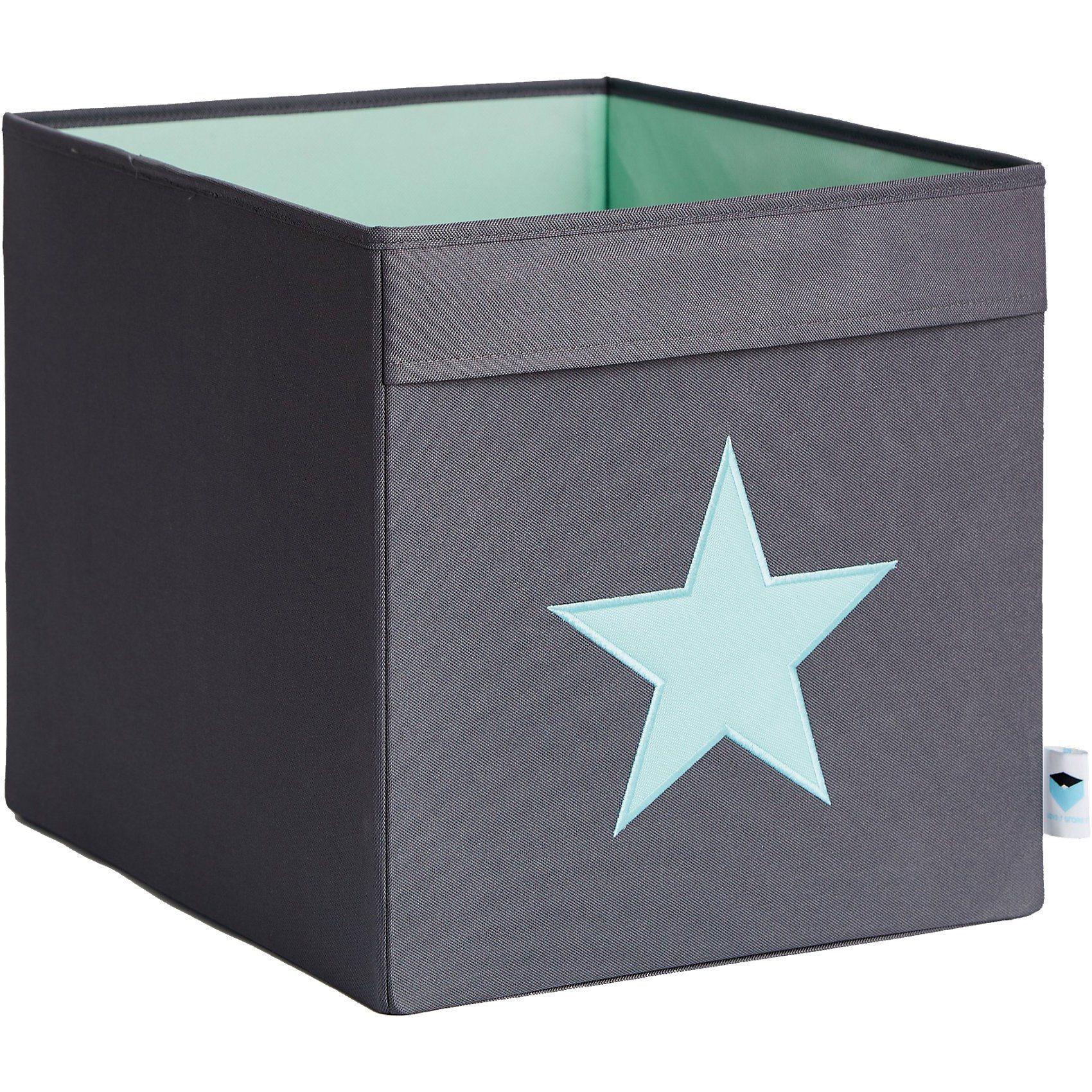 STORE IT! Aufbewahrungsbox, Stern, grau/mint | Dekoration > Aufbewahrung und Ordnung > Kästchen | Polyester | STORE IT!