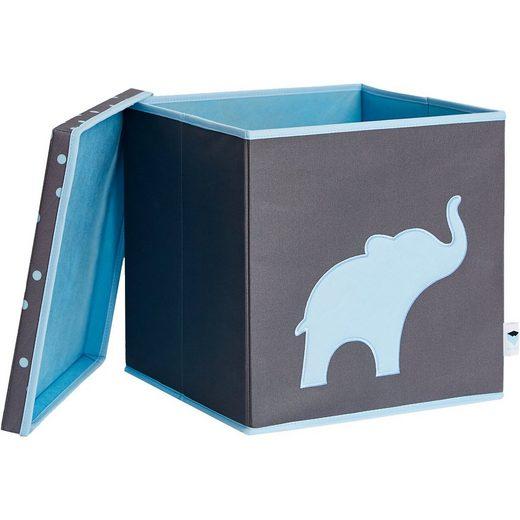 STORE IT! Spielzeugkiste mit Deckel mit MDF, Elefant
