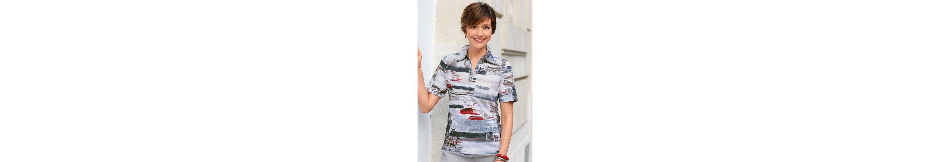 Classic Basics Shirt mit Glitzersteinchen-Verzierung Günstig Kaufen Angebot Erhalten Verkauf Online Kaufen Freies Verschiffen 100% Garantiert Countdown-Paket Zum Verkauf N48vh