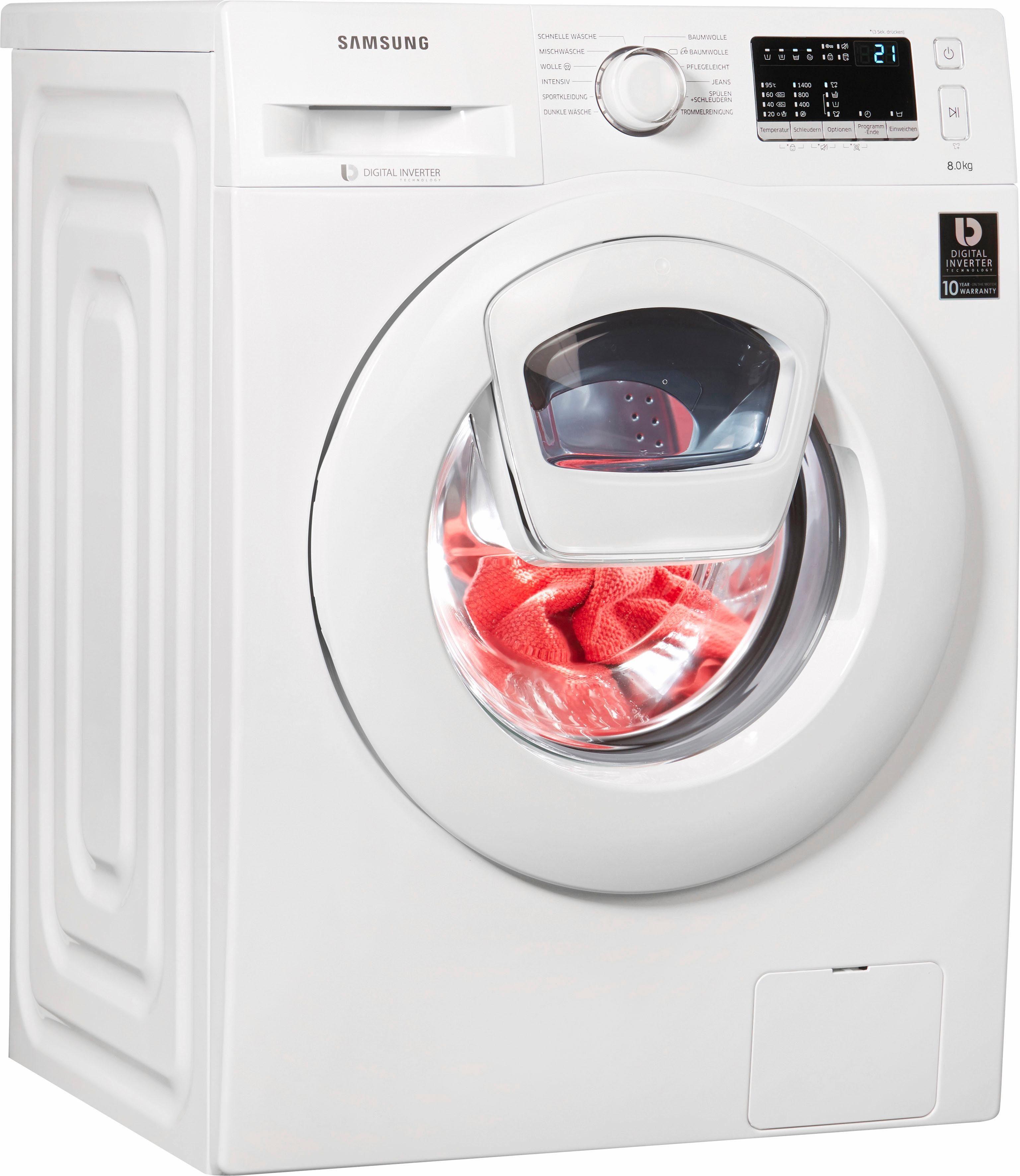Samsung Waschmaschine WW80K4420YW/EG, 8 kg, 1400 U/Min