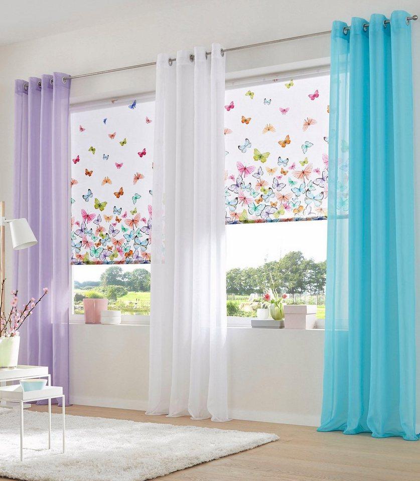 seitenzugrollo butterfly home affaire lichtschutz ohne bohren kettenzug online kaufen otto. Black Bedroom Furniture Sets. Home Design Ideas