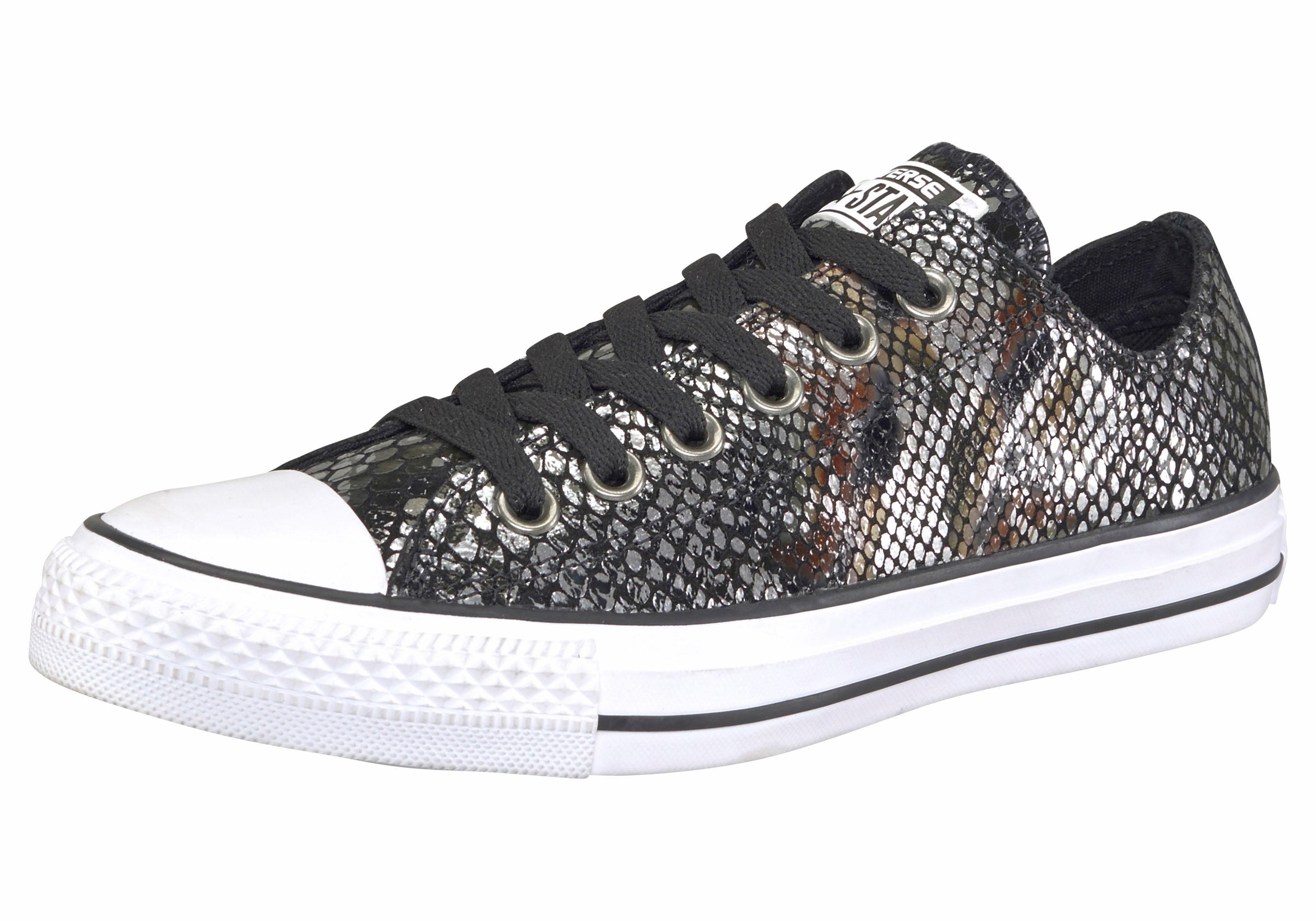 Converse Chuck Taylor All Star Ox W Sneaker  schwarz-silberfarben