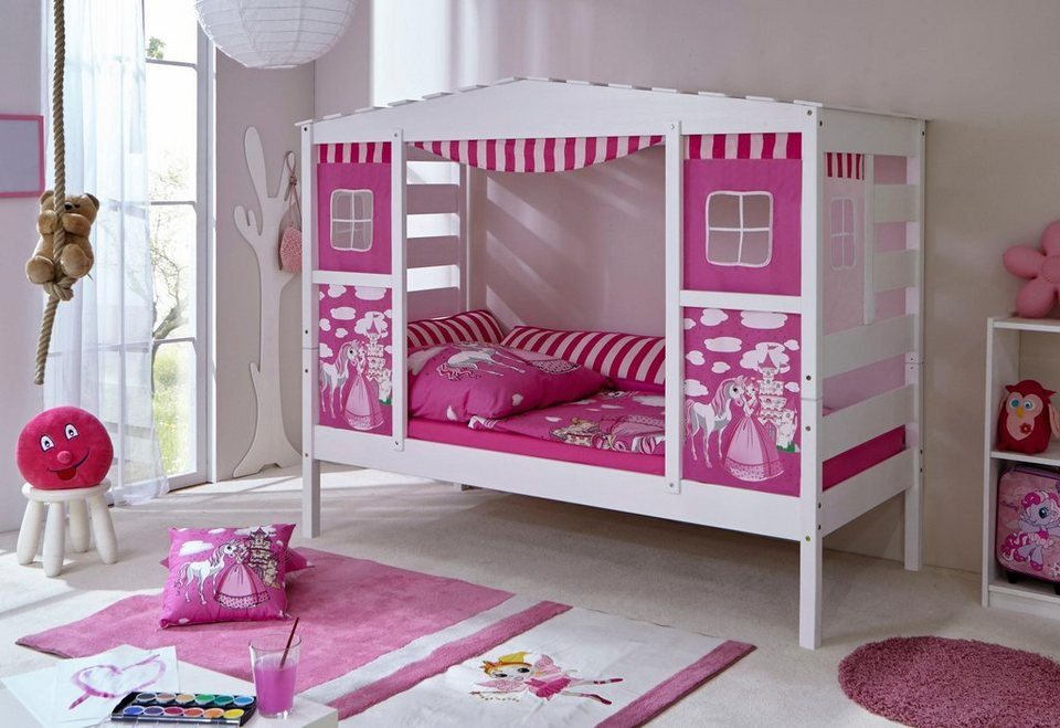 Ticaa Kinderbett In Hausoptik Lio Aus Massiver Kiefer Liegefläche