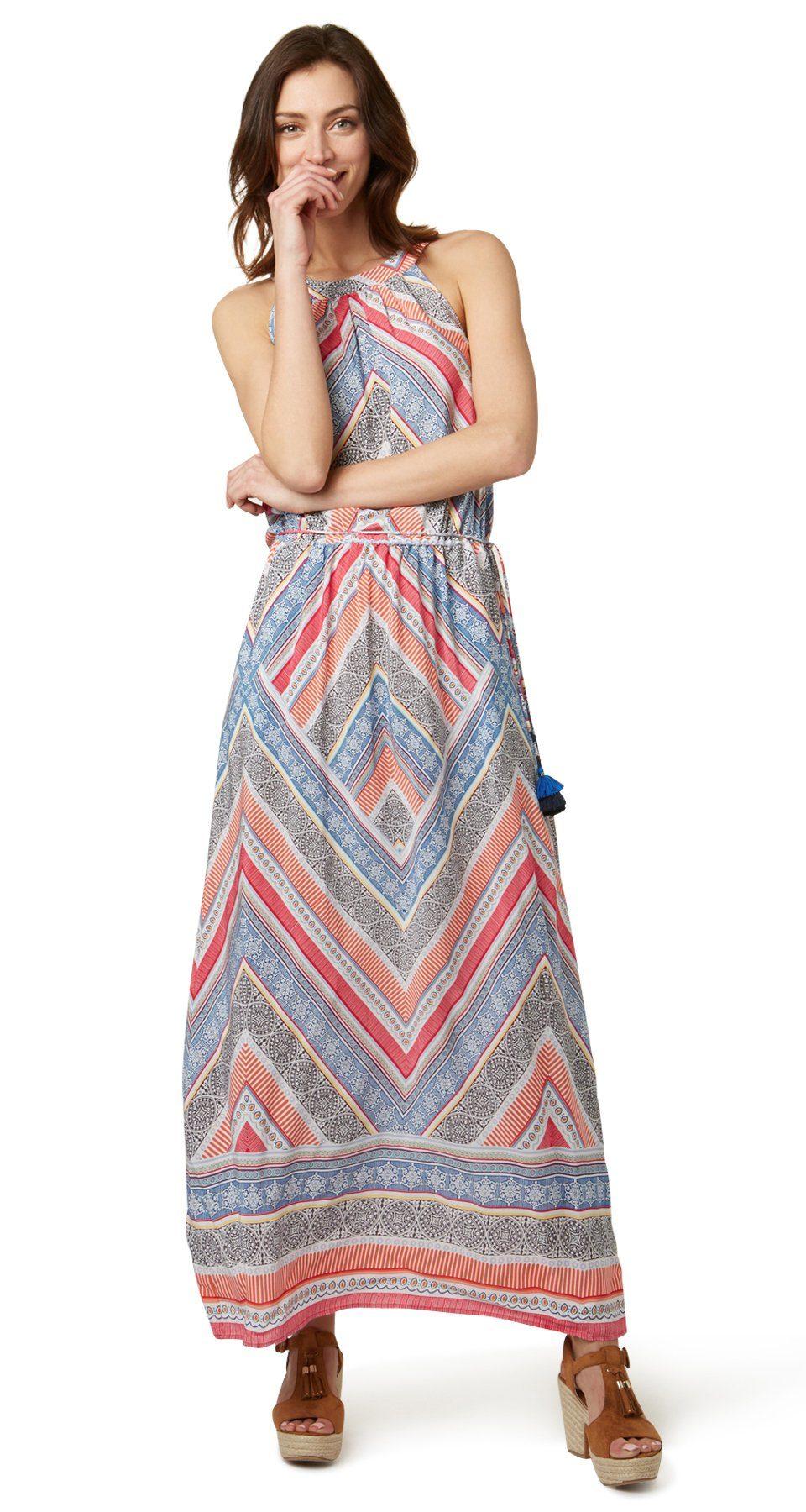 TOM TAILOR Kleid »Maxi-Kleid mit Tassel-Detail«