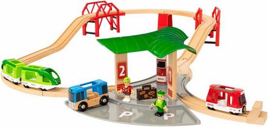 BRIO® Spiel-Gebäude »Reisezug Set mit Busbahnhof«