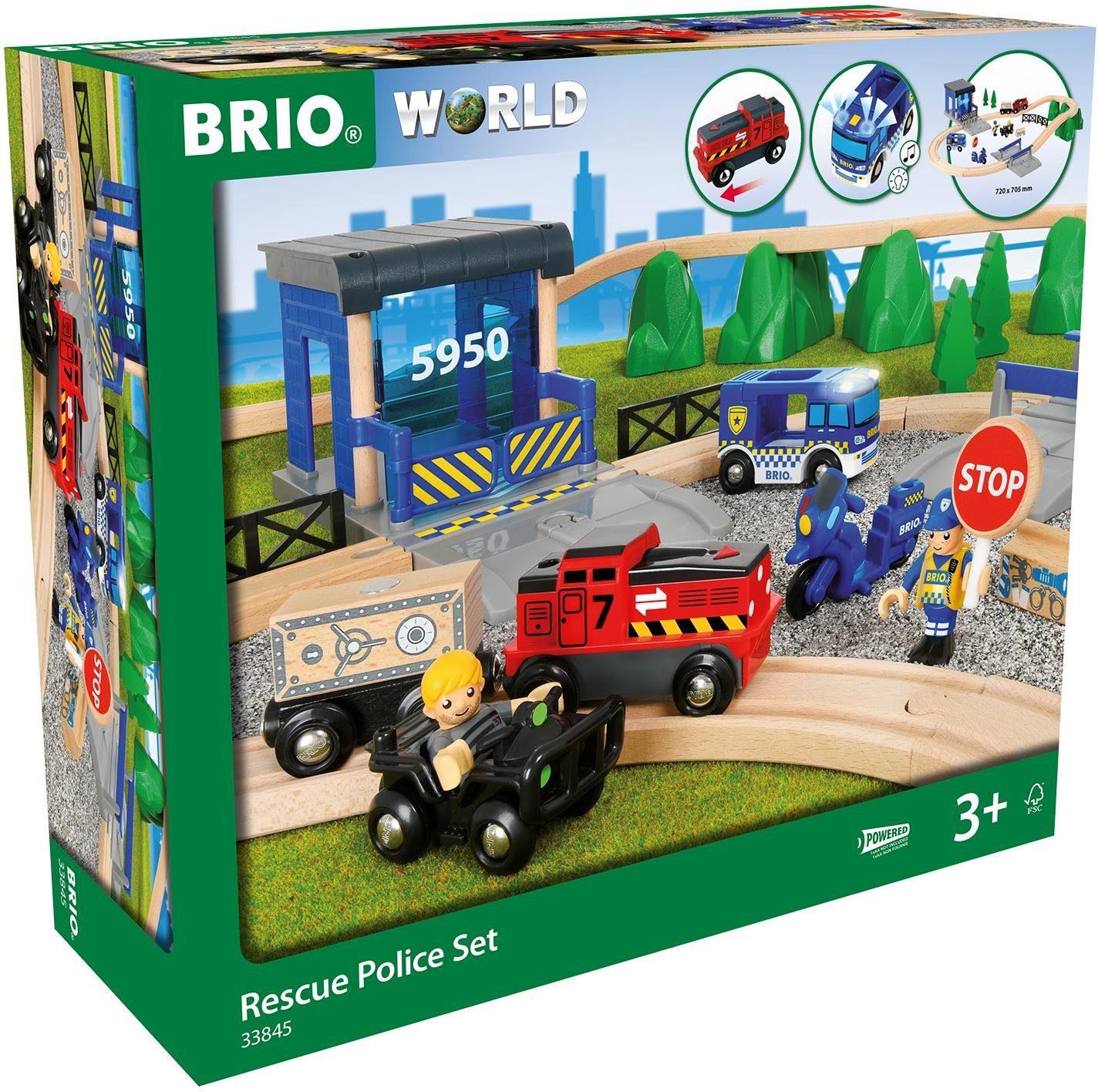 Brio Spielzeugeisenbahn mit Sound und Lichtfunktion, »World, Großes Polizei Deluxe Set«