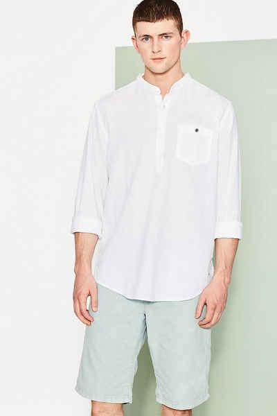 EDC Pull-Over-Hemd aus Leinen-Mix Sale Angebote Lutzketal