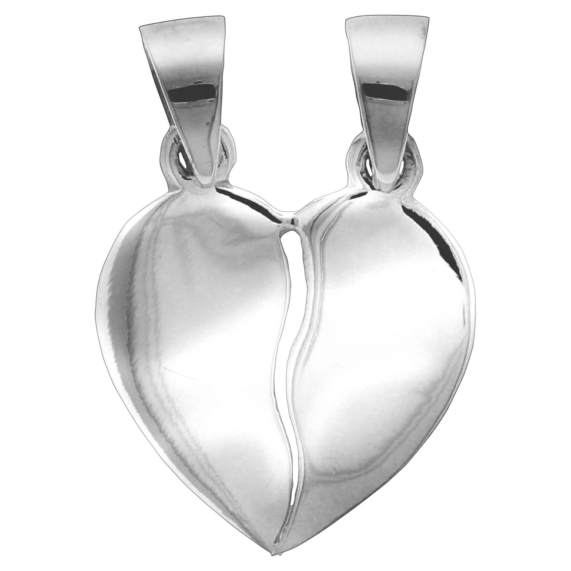 Firetti Anhänger »925/- Sterling Silber rhod. 2tlg. Herz«