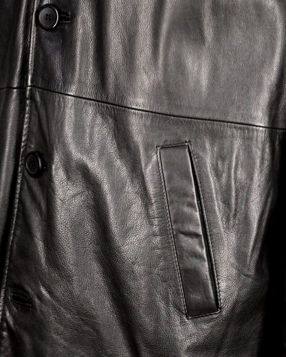Jcc Long Leather Jacket With Removable Lining Ik7